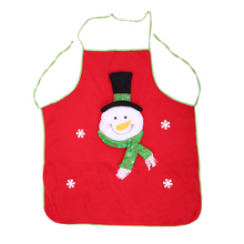 Cooking Apron Christmas Cloth Cartoon Kitchen Aprons Red Feastival Dinner Party Decorations for Home