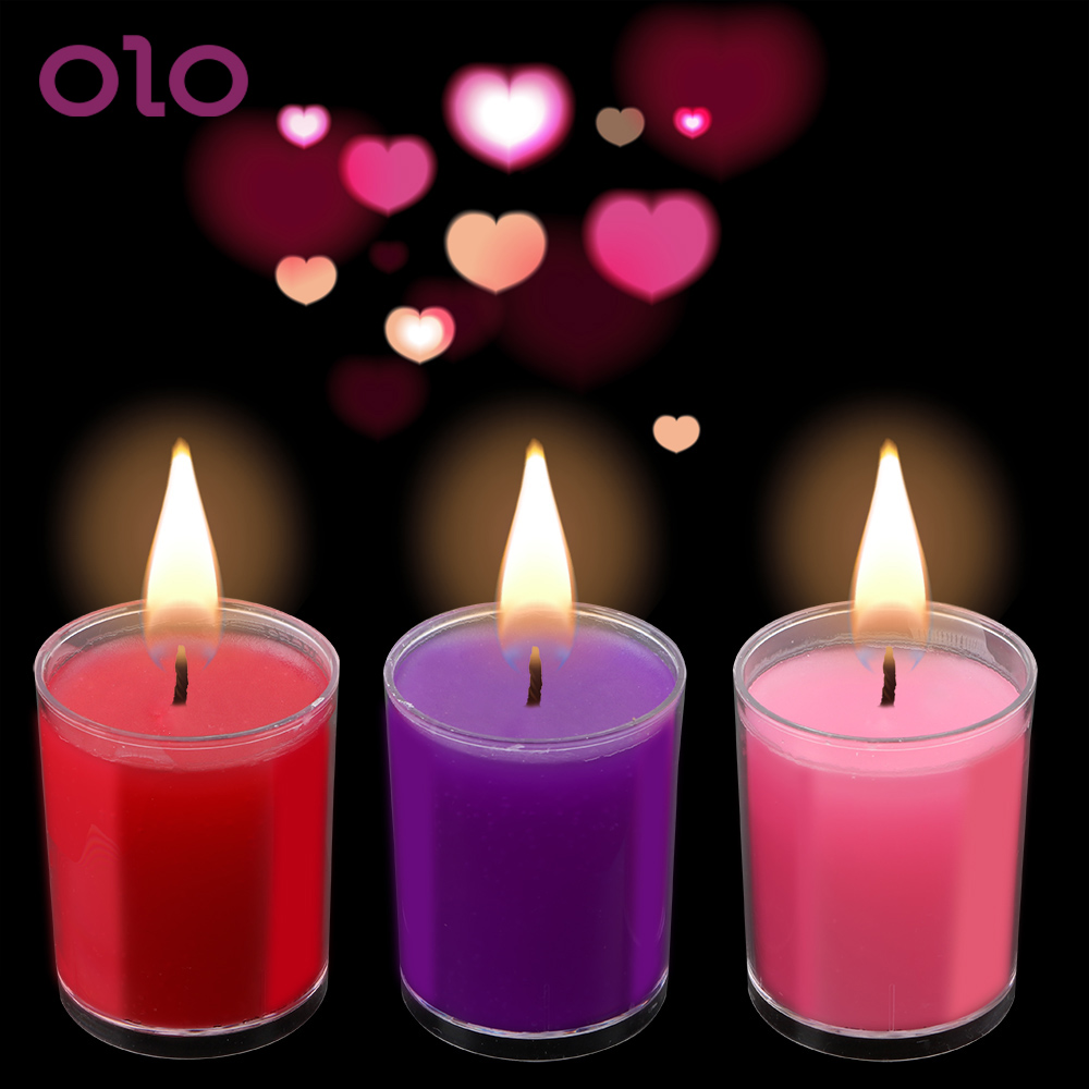 OLO Low Temperature Candle SM Bed Restraints For Women Men Intimate Lover Toys Passion Drip Wax Drip Candles Adult Games