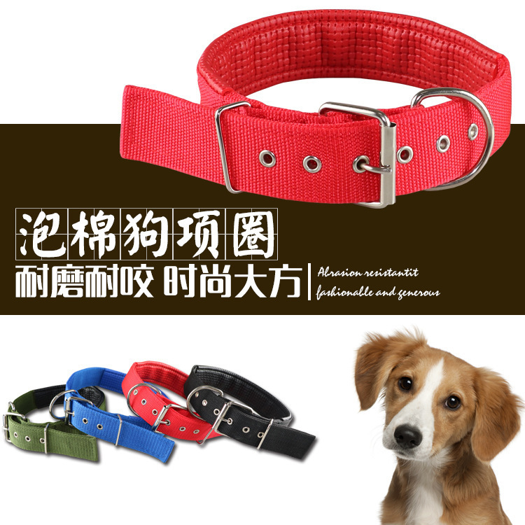 New Style Pet Supplies Dog Neck Ring Outdoor Dog Foam Sponge Decoration Neck Ring
