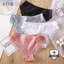 FINETOO-M-2XL bragas de algodón para mujer, ropa interior cómoda, Sexy, de tiro bajo, lencería de talla grande, 2020