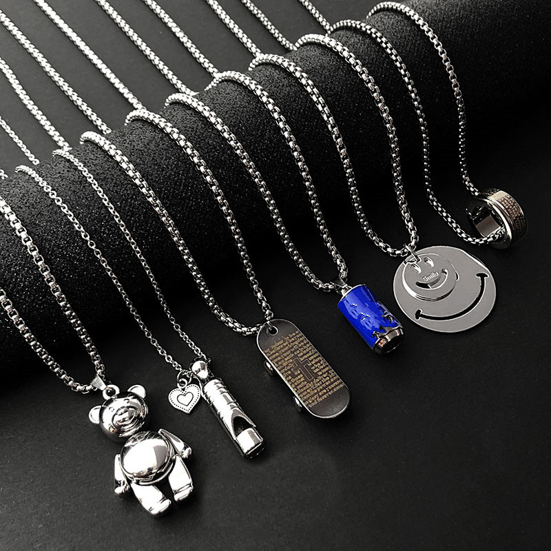 Punk Stainless Steel Fashion Long Necklace Women Gothic Sweater Chain Hip hop Choker Necklace Men Goth Jewelry 2020 Wholesale(China)