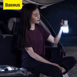 Baseus Car Emergency Light Magnetic Adsorption Bedroom Camping Night Lights Rechargeable Four Colorful Modes For Car & Home