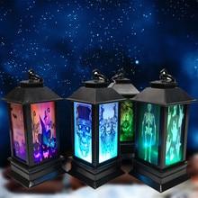 """4 шт. Хэллоуин декоративная светодиодная лампа в форме свечи с светодиодный Чай свет свечи для украшения на хэлоуин, популярный товар часть СВЕТОДИОДНЫЙ свеча """"череп"""" освещение"""