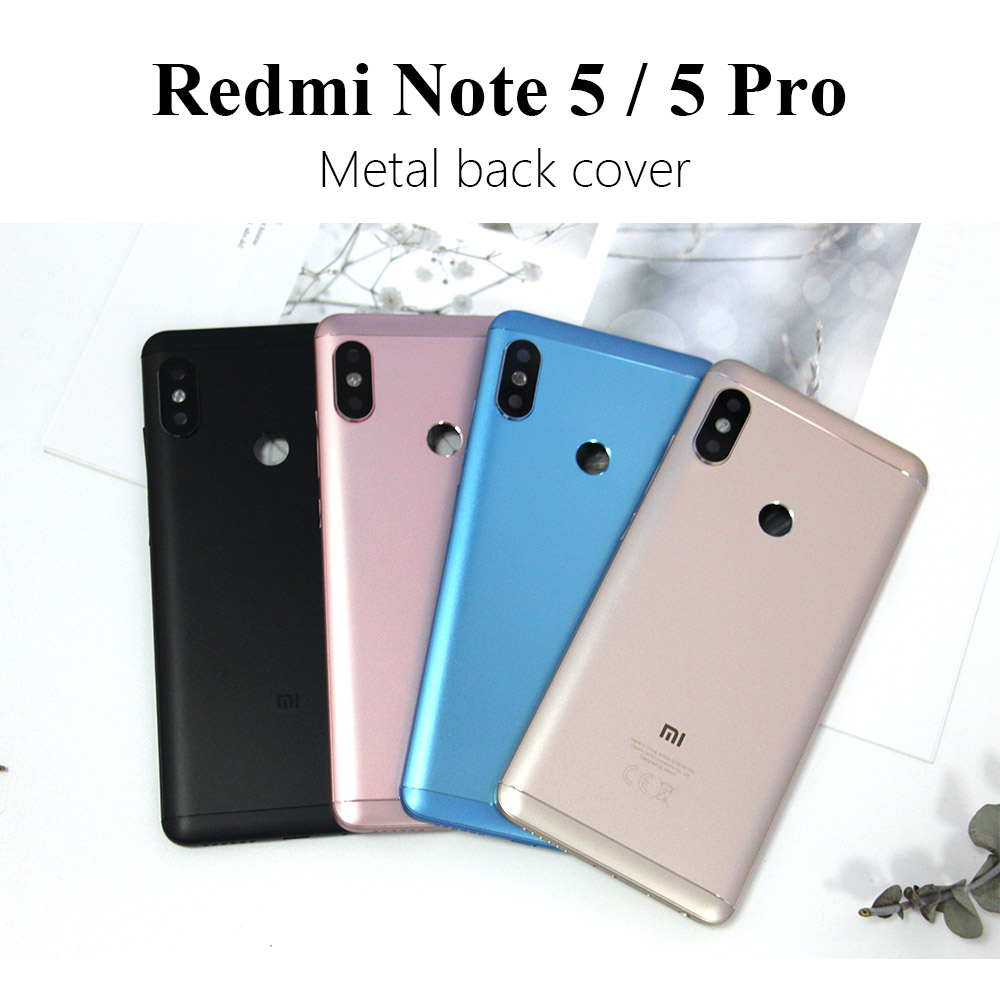 E-family Housing For Xiaomi <font><b>Redmi</b></font> <font><b>Note</b></font> <font><b>5</b></font> <font><b>Pro</b></font> Note5 Metal <font><b>Battery</b></font> Back <font><b>Cover</b></font> Replacement Parts Case With Lens Buttons & tools image