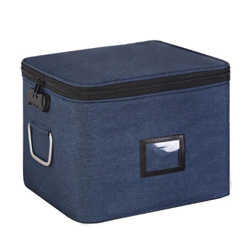 Multi-layer Document Organizer Portable Password Files Bag Briefcase Large Capacity Storage Case Travel