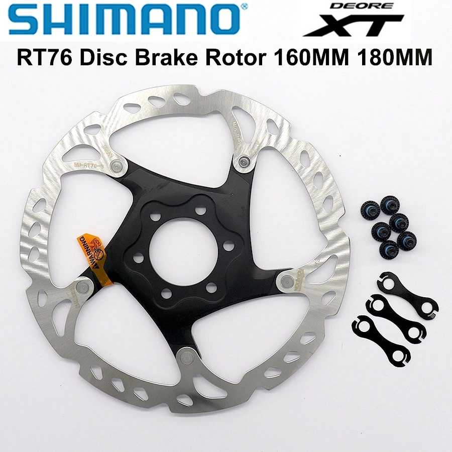 Shimano DEORE XT RT86 RT76 Disc Brake Rotors Ice Tech 6 Bolts 160mm 180mm 203mm