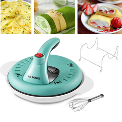 New Automatic Nonstick Crepe Makers 24cm Pancake machine home electric baking pan with Metal stent with support  220V