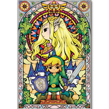 5d Pintura Diamante Diy New Arrivals Completa Broca de Diamante Bordado Dos Desenhos Animados Ele Legend Of Zelda Skyward Sword Crianças Room Decor artes(China)