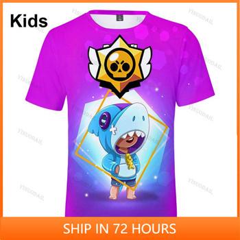 Sandy Max Penny i gwiazda odzież dziecięca strzelanka 3d Swearshirt chłopcy dziewczęta topy dzieci Tshirt Shark Leon T-shirt ubrania tanie i dobre opinie FORTNITE CN (pochodzenie) 25-36m 4-6y 7-12y 12 + y POLIESTER Movie Anime Gaming Cosplay 3D Digital Printed Slant Patch Pocket