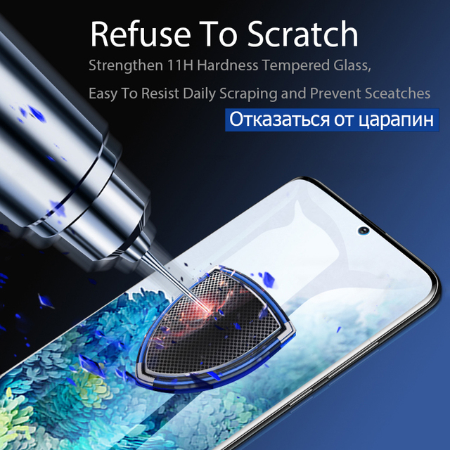 Tempered Glass For Samsung Galaxy Note20 Ultra S10 E S9 S8 S20 S21 Plus Screen Protector Note 20 S 21 10 9 8 S10E S 20 5G Film 5