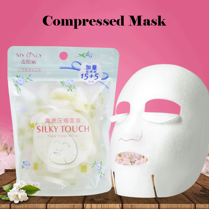 20pcs/pask Compressed Face Mask Paper DIY Disposable Facial Masks Papers For Women Makeup Skin Care Wrapped Masks Beauty Tool 30