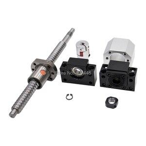 Image 2 - 2 pcs ballscrew SFU2505 397mm + סוף תמיכה bkbf20 + coulpings + אגוז דיור DSG25H עבור cnc מכונת