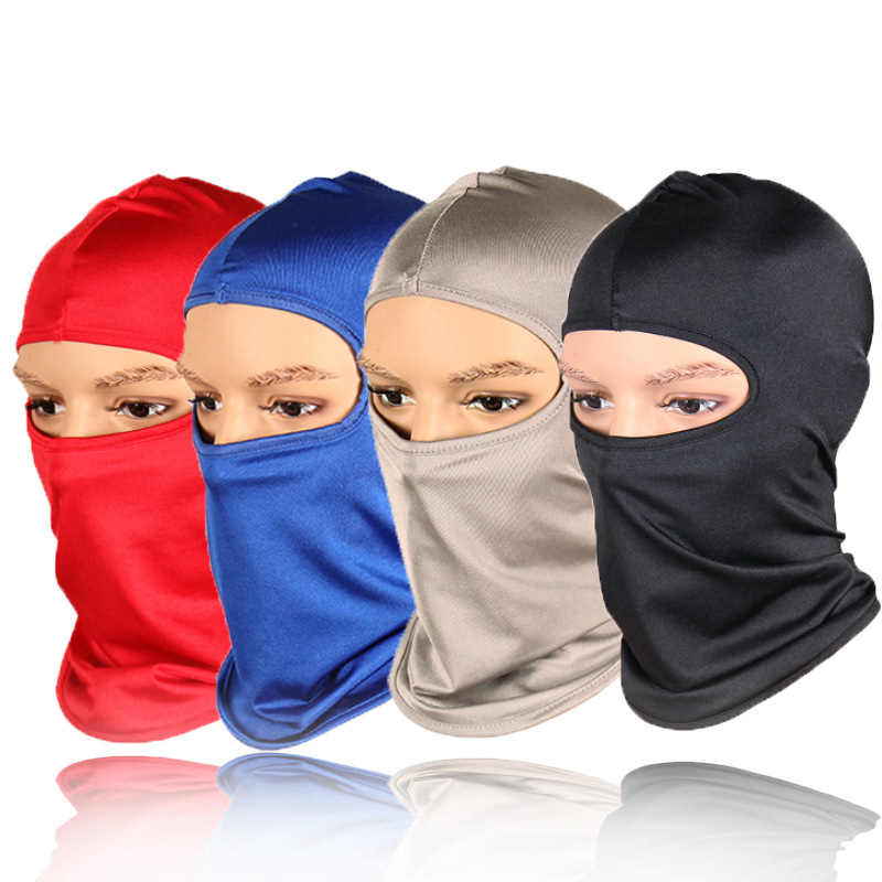 1pc Man Women Unisex Mouth Face Mask Fashion Balaclava Solid Summer Outdoor Cycling Climbing Face Mask Balaclava Mask Cover