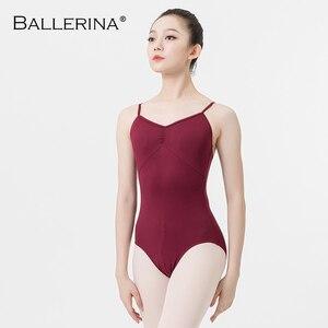 Image 4 - Ballet prática collant feminino dança traje sling dança preto collant adulto meninas ginástica collant bailarina 5078