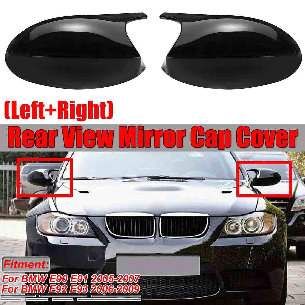 M3 look carbon fiber replacement side door mirror cover caps for BMW 3 series pre lci E81 E87 E88 E90 E91 E92 E93 2006-2009