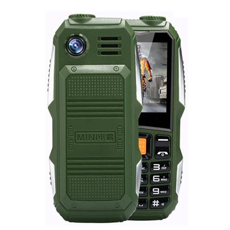 Xeno J1 Big Power Battery 3800mAh Phone Dual sim GSM Strong Signal Shockproof LED Light Cell Phone Senior Elder Mobile Phone