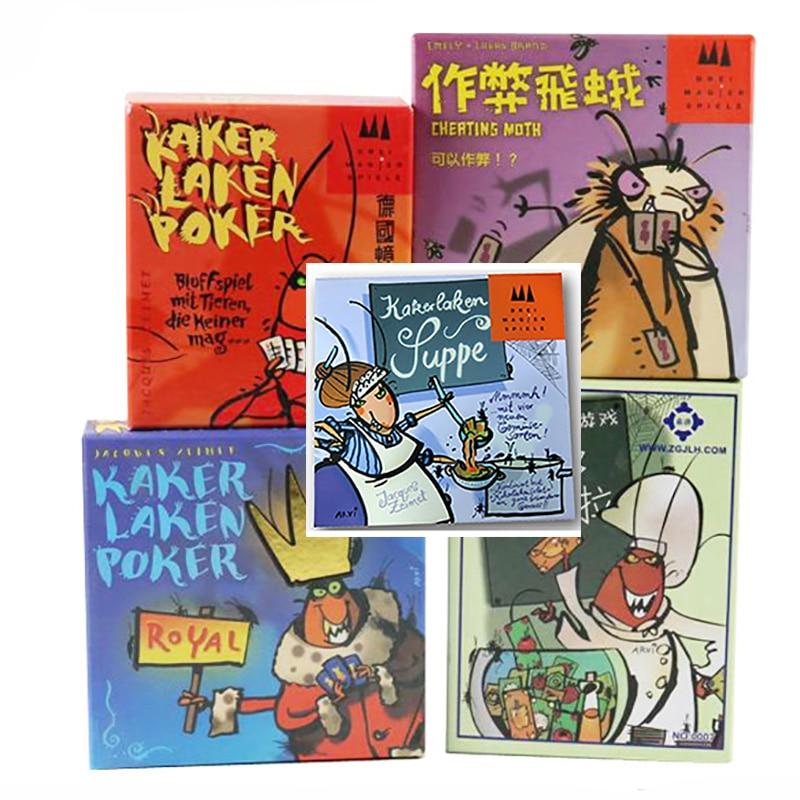 5 вариантов Веселые карточные игры Kakerlaken Salat/Poker/Royal/Suppe/Mogel Motte семейная настольная игра вечерние тараканы в помещении