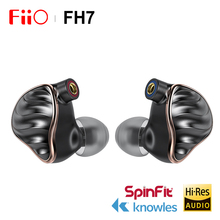 FIIO FH7 HIFI dans loreille écouteur nouveau phare 5 pilotes hybrides 4 Knowles BA + 13.6mm dynamique IEM avec MMCX câble détachable
