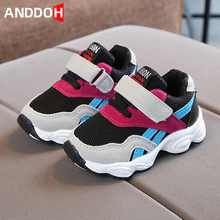 Size 21-30 Baby Anti-slippery Toddler Shoes Girls Breathable Lightweight Sneakers Boys Hook Loop Casual Shoes Children Sneakers cheap ANDDOH 4-6y 7-12y 12+y CN(Origin) Four Seasons unisex Rubber Fits true to size take your normal size Hook Loop striped