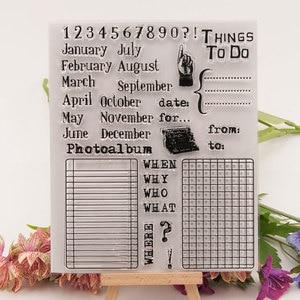 Image 3 - Timbres clairs transparents calendrier perpétuel