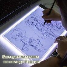 A4 led desenho tablet gráficos digitais almofada usb led caixa de luz placa cópia eletrônico arte gráfica pintura mesa escrita