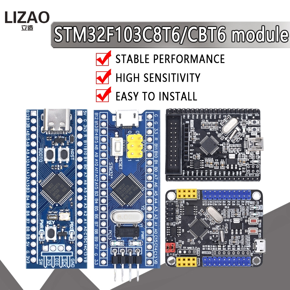 Модуль платы разработчика минимальной конфигурации для Arduino Mini STM8 Type-C STM32F103C8T6 STM32F103CBT6 ARM STM32