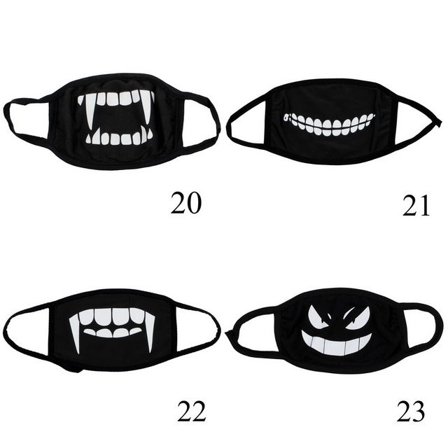 4 pcs Can Choose Colors Anime Cartoon Kpop Mouth Mask for Women Dust Mask Cotton Dustproof Men Black Filtration Muffle Face Mask 5
