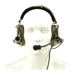 Z-TAC ZComtac II zestaw słuchawkowy wodoodporny taktyczny zestaw słuchawkowy z redukcją hałasu taktyczne słuchawki z mikrofonem-Z041 Olive Drab