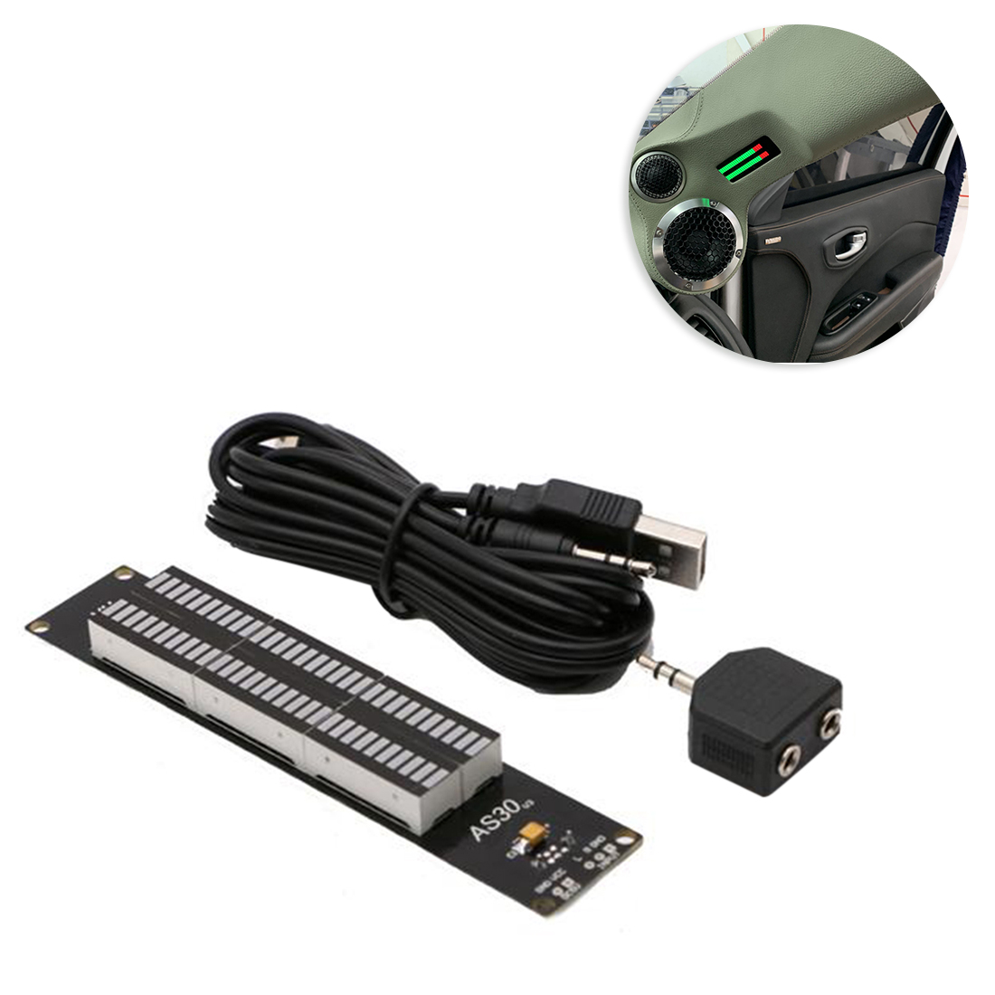 AS30 Professional Music Spectrum Display Car Amplifier Audio Modification Level Indicator Without Shell - Bulk Parts