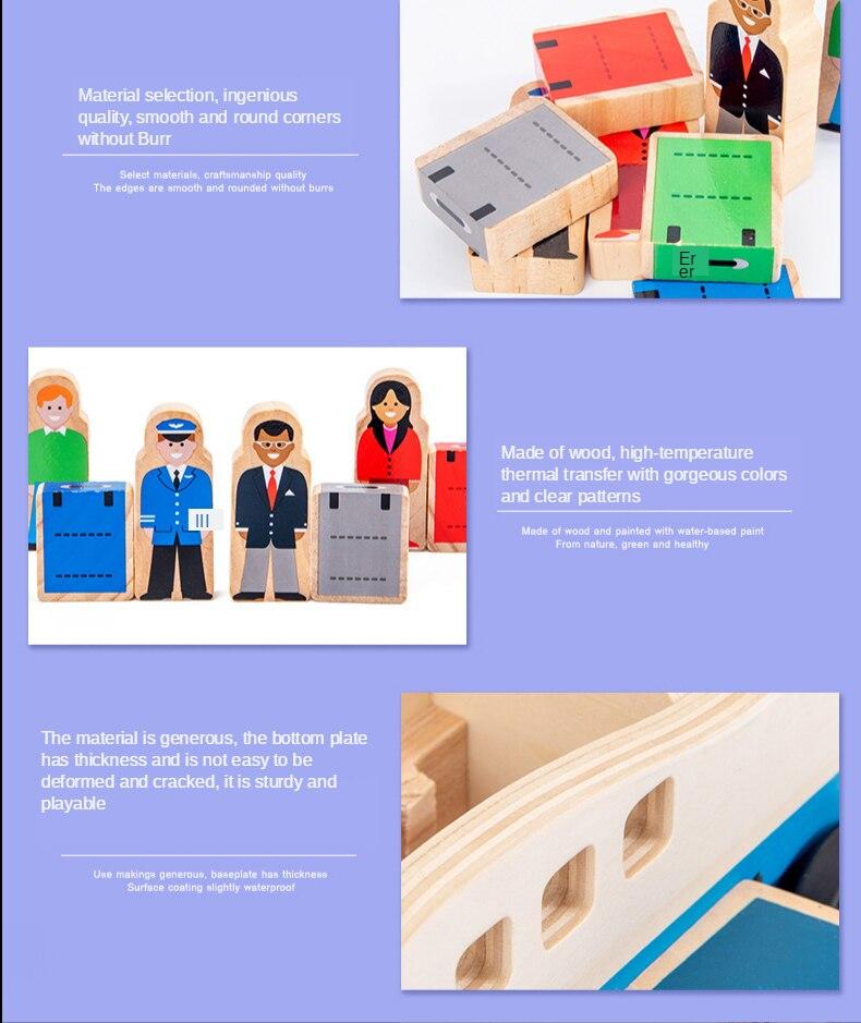 Transporte de madeira brinquedos 3-6-9 meses brinquedos