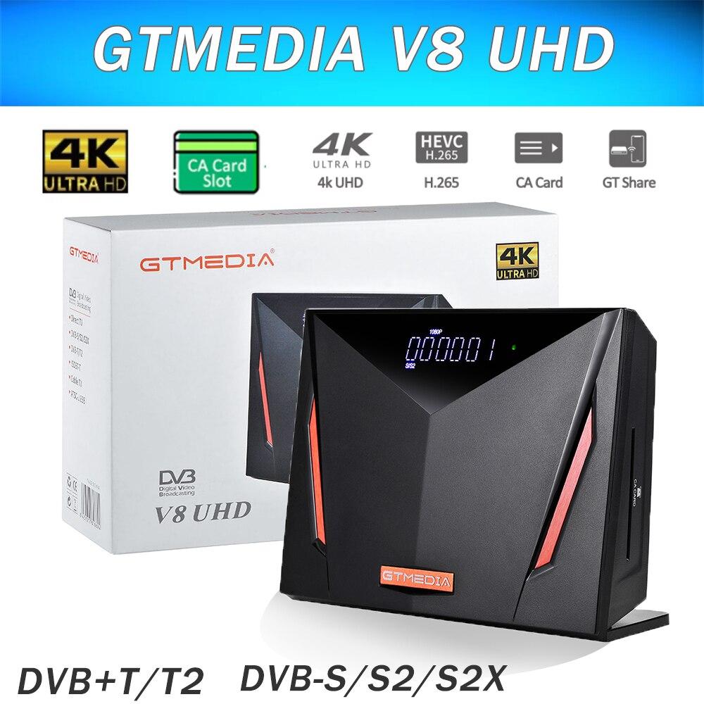 Full HD спутниковый ресивер GTmedia V8X приемное устройство спутник такой же, как и GTmedia V8 NOVA декодер DVB-S2 и встроенным модулем Wi-Fi h.265 нет приложения