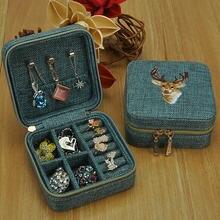 Китайский стиль ручной работы вышитая коробка ювелирных изделий