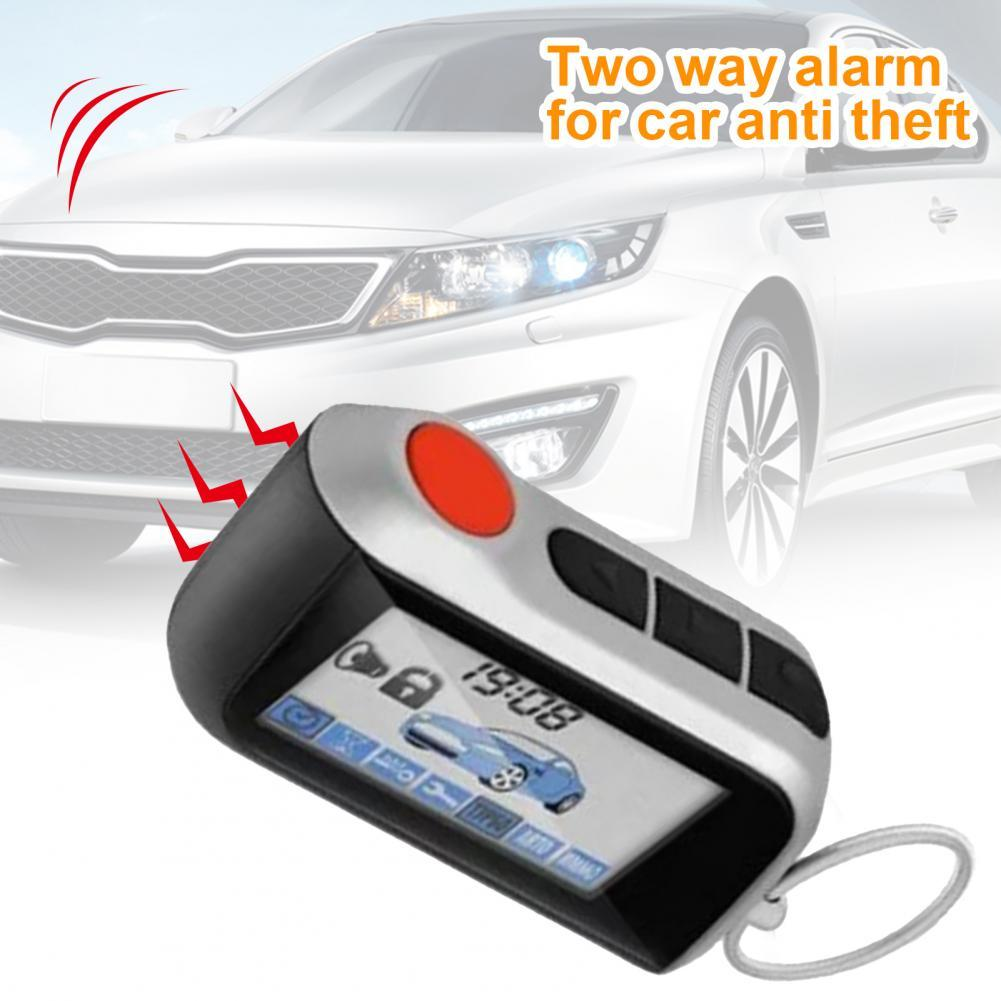 A93 Transverse LCD Remote Control Keychain Controller Anti-theft Car Burglar Security System 2 Way Alarm for Russian Starline A9