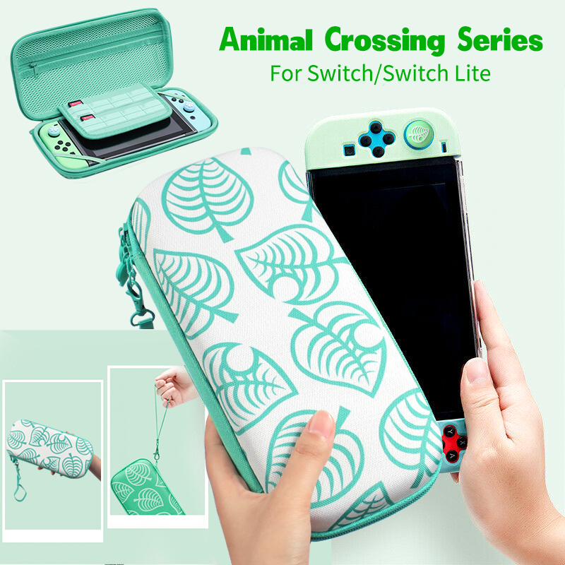 AOLION Portable Animal Crossing Storage Bag For Nintend Switch Lite Case NS Lite Console Carrying Travel Bag Game Accessories