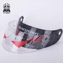 Marushin – visière complète pour casques de moto, couleur argent, lentille anti buée, claire et noire, 999, 222, 888, 778
