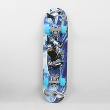 Kinderen Skateboard Vier Wiel Skate Board Kid Scooter Longboard Katrol Wiel Dubbele Snubby Maple Skateboard Legering Roller Board(China)