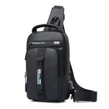 Work Crossbody Bags Men USB Charging Chest Pack Short Trip M