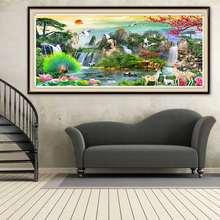 Полный Круглый квадратный 5d алмазные картины пейзаж водопада