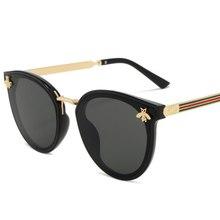 2020 abelha óculos de sol feminino vintage gradiente óculos de sol retro feminino uv400 moda unidade ao ar livre