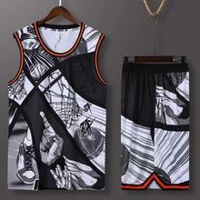 Customizable Men Women Basketball Jersey Sets Sport Kit Clothing Breathable Basketball Jersey Sleeveless Shirts Shorts Suit
