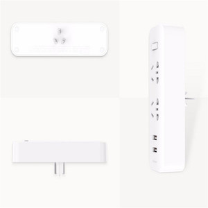 Image 5 - Xiaomi Mijia Power Strip Converter Portable Plug Travel Adapter for Home Office 5V 2.1A 2 Sockets 2 USB Fast Charging H20