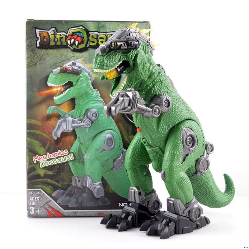 Mechanical T-Rex Dinosaur Electric Toy Large Size Walking Dragon Toy With Light Sound Model Toys For Kids
