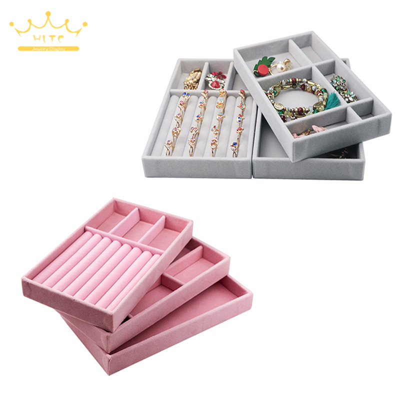 Jewelry Display Tray Ring Holder Showing Case Necklace Display Tray Jewellry Storage Container Earring Bracelet Box