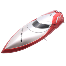 цена на High Speed RC Boat 2.4GHz 4 Channel Racing Remote Control Boat RC Ship 28km/h H106 Red Speedboat With LCD Screen Toys Gift