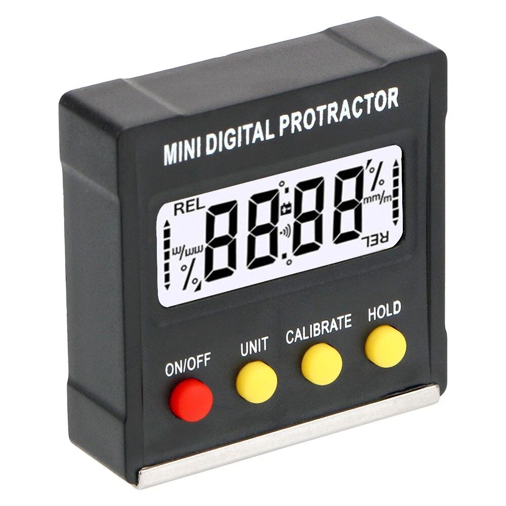Цифровой угломер, электронный мини-транспортир с магнитным основанием на 360 градусов