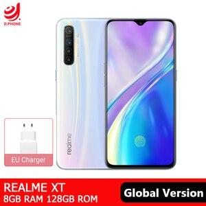 Image 1 - Realme XT Version mondiale 8GB 128GB téléphone portable NFC Snapdragon 712 AIE octa core 64MP Quad caméra 4000mAh Smartphone à Charge rapide