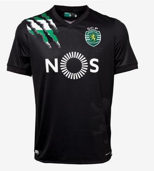 2020 2021 new Sporting tees T-shirts customize Sporting Lisbon Camisa Marcos Acuna Sebastian Coates Camiseta de futbol T-shirts - Black, L