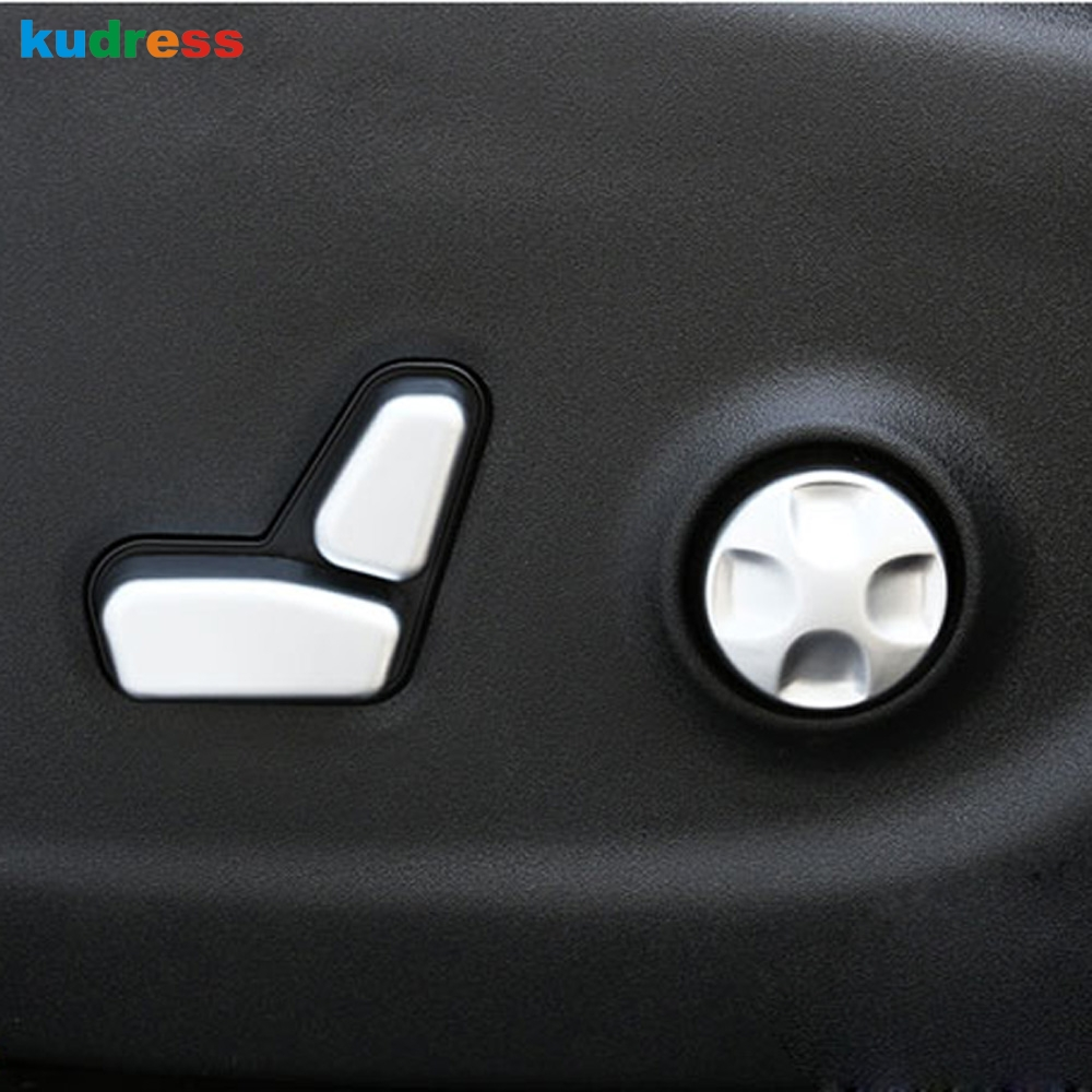 For <font><b>Jeep</b></font> <font><b>Compass</b></font> 2017 <font><b>2018</b></font> Car Styling Seat Chair Adjust Buttom Switch Cover Moulding Frame Trim Stickers <font><b>Accessories</b></font> image