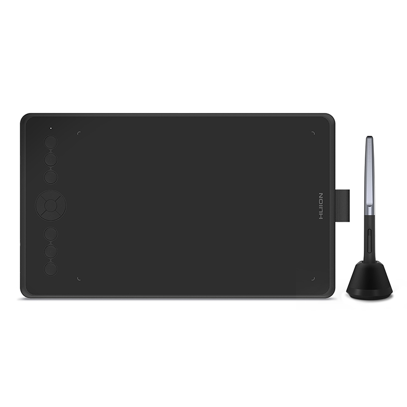 Huion Black H320M Graphic Drawing Tablet And LCD Digital Writing Board Tablet  With Battery-free Stylus For Android/PC