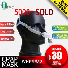 BMC CPAP Mask for CPAP Auto Nasal Pillow Nasal Full Face Mask Silicone Material Size S/M/L with Headgear Free Shipping